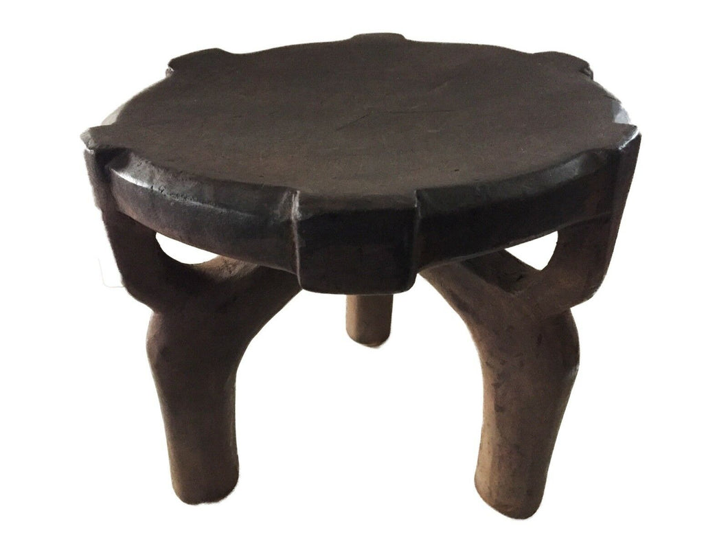 #1753 African Old Carved Wood Milk Stool Hehe Gogo People Tanzania 10