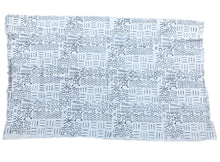 "Load image into Gallery viewer, African Bogolan Black and White Mud Cloth Textile Mali 40"" by 60"""