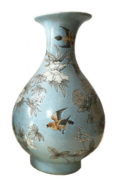 Superb Chinese  Famille Rose Porcelain Shaped Vase  17