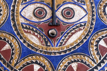Load image into Gallery viewer, Lg Bwa Sun Mask Blue and Red Burkina Faso 28 Inch African Art