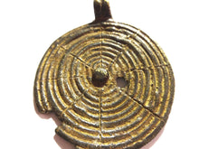 "Load image into Gallery viewer, Superb Gan Bronze Amulet Pendant of Ornate Serpent Burkina Faso 4"" H"