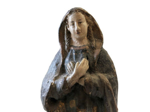 Rare 19th Century Terra-Cotta Figure of a Saint Philomena 7""