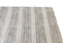 "Load image into Gallery viewer, African Large Black & White Mud Cloth Textile Mali 84"" by 62"" # 1962"