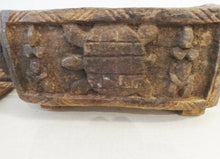 "Load image into Gallery viewer, # 165 Old African Dogon wood Box w/ Horses / Crocodile / Turtle / Ancestors Mali 16"" w"