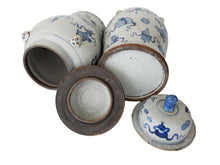 "Load image into Gallery viewer, Chinese Porcelain Large B & W Ginger Jars 23"" h"