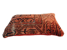"Load image into Gallery viewer, Antique  Lumbar Malayer Rug Pillow Fagment 14.5"" by 9"""