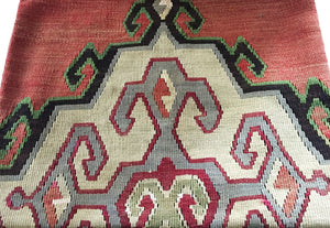 "Superb Custom Made Old Turkish  Tribal Kilim Pillow Cover 20"" by 20"""