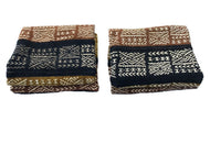 Superb Pair  of Bogolan Mali Mud Cloth Textile 40