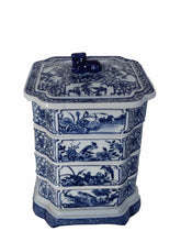 "Load image into Gallery viewer, #1021 Chinese Blue and White  Set Of Boxes 9"" h"