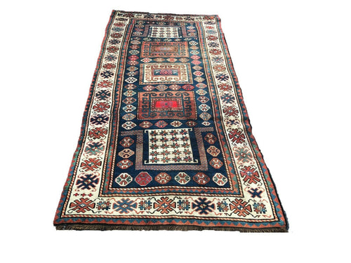 Rare exquisite 19th Caucasian Chagli Long Rug 10' 3