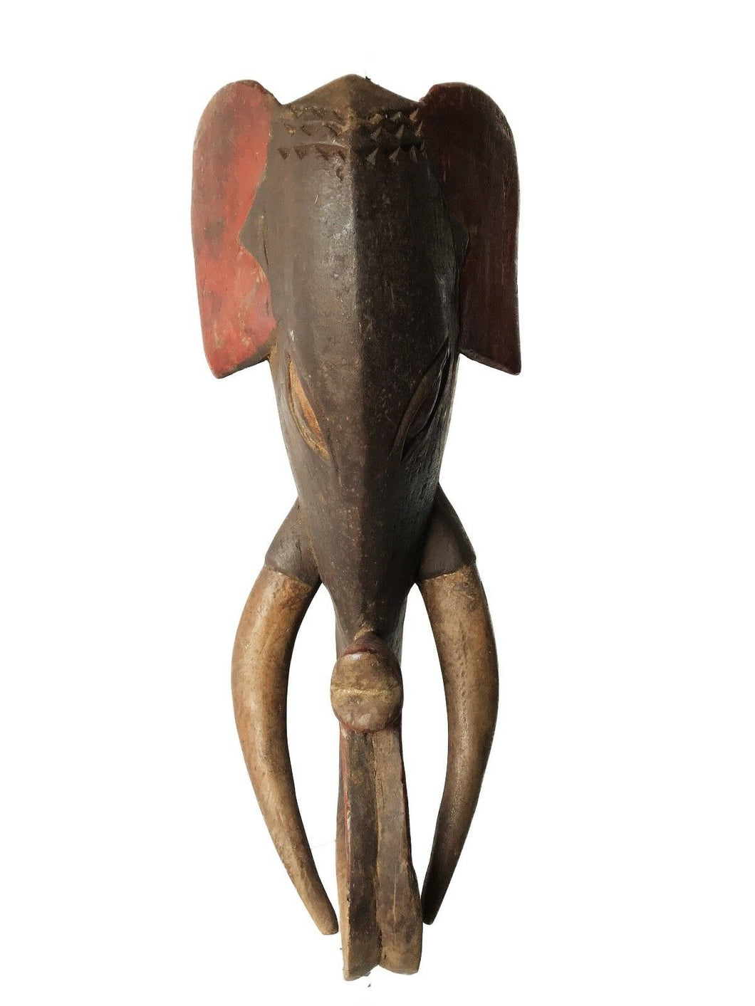 Superb Baule Tribe Theriomorphic Elephant Mask Côte d'Ivoire 23.5