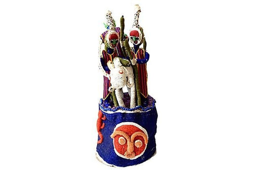 Stunning African Yoruba Beaded King Crown 24
