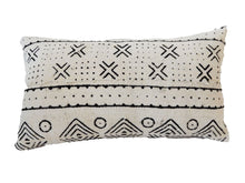 "Load image into Gallery viewer, Mud Cloth Bogolan Lumbar Pillow African Mali 16.5"" by 9.5"" # C"