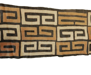 "Superb  Kuba Cloth - Bushoong – DR Congo 106 Long by 21"" w"