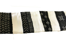 "Load image into Gallery viewer, African  Black and White Mud Cloth Textile Mali 40"" by 60"" #294"