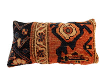 "Load image into Gallery viewer, 19th Custom Made Antique Lumbar Malayer Pillow 14.5."" w"