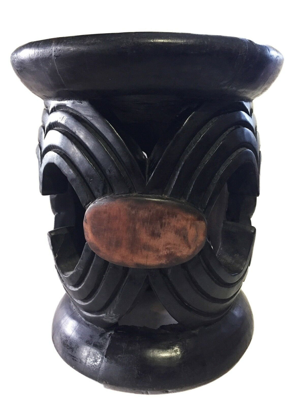 Superb Old African Bamileke wood Low Stool 14