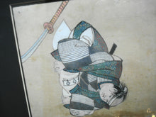 Load image into Gallery viewer, SUPERB 2 JAPANESE NOH DRAMATIC ACTORS WATERCOLOR 20THC