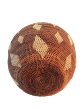 "Load image into Gallery viewer, Large Vintage Botswana Handmade  African Basket Primitives Folk Art 14.5""h"