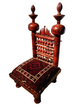 "Load image into Gallery viewer, Large Old Punjabi Indian Wedding Chair 44"" h"