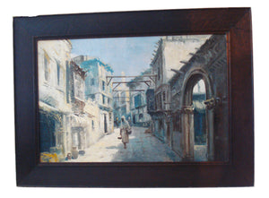 Superb 19th / 20th century Oil on canvas Orientalist Painting framed