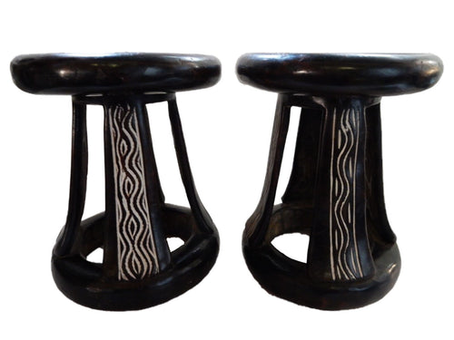 Superb african Bamelike stools Cameroon  Pair 11