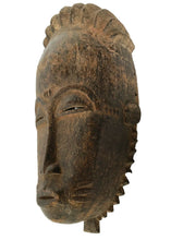 "Load image into Gallery viewer, Superb African Baule Portrait Mask Cote D'ivoire 15"" H"