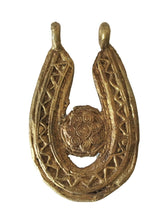 "Load image into Gallery viewer, Lobi Bronze Amulet /Gold Weight Pendant 3.25"" H"