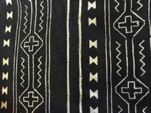 "Load image into Gallery viewer, African Mali Black and White Mud Cloth Textile / PAIR 64"" by 45.5"" Pair"