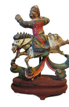 Load image into Gallery viewer, Antique Asian  circa1800's Carved Wood Figure Of An Equestrian