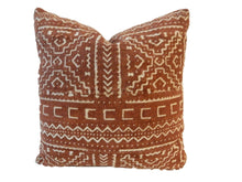 "Load image into Gallery viewer, African Custom Made Mud cloth Pillow 15.5 "" by 16.5"" W"
