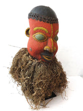 Load image into Gallery viewer, Superb african Bamileke Headdress mask Cameroon Grasslands on iron stand 24.5 H