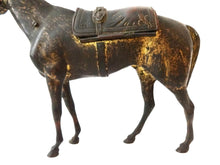 "Load image into Gallery viewer, Superb 19th century French Bronze Box Horse Orientalist w/Fleur de Lys 6"" H"