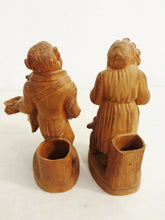 Load image into Gallery viewer, Superb Vienna Terracota pair of Monkeys Figures Pen Holder