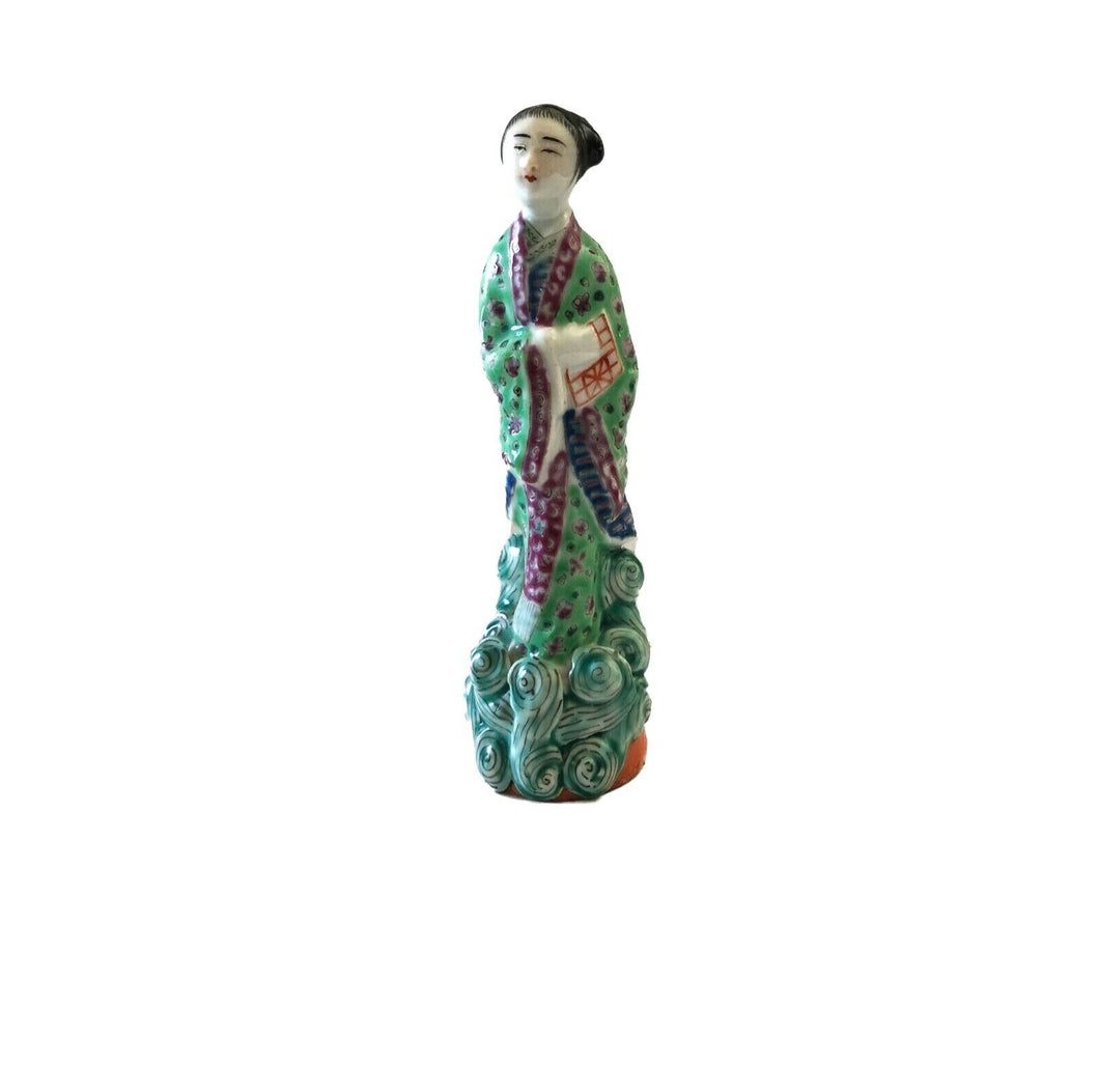 Antique Chinese Republic Period Porcelain Figurine of an Immortal 6