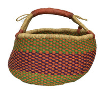 "Load image into Gallery viewer, #391 Large African Bolga Ghana Market Basket 14""-16"""