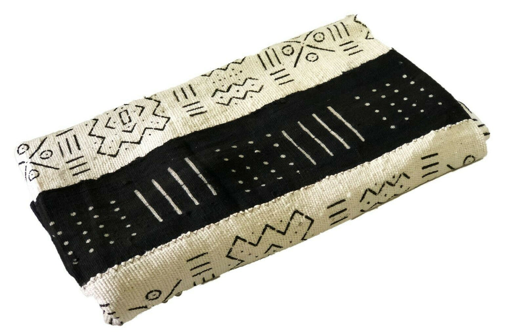 African  Black and White Mud Cloth Textile Mali 40