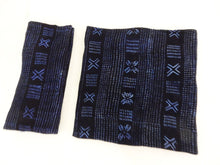 "Load image into Gallery viewer, Malian Indigo Mud Cloth Textiles S/2 44"" by 58"" # 15"