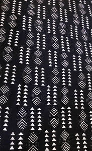 Malian Black & White Mud Cloth Textile