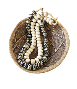 African Jumbo Bone Trading Beads Set of 2 Necklaces