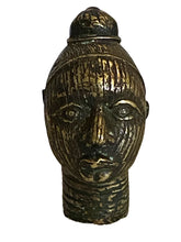 Load image into Gallery viewer, #3369 Benin Bronze Brass Head of a Queen Nigeria