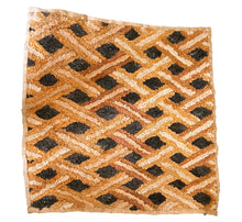 "Load image into Gallery viewer, Superb African Kuba Kasai Velvet Raffia Textile Zaire 23 ""by 22.5"""