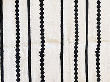"Load image into Gallery viewer, Lg Black & White Mud Cloth Textile Mali 39.5"" by 67"""