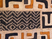 "Load image into Gallery viewer, Superb African Kuba Cloth Raffia /Textile Zaire 69"" by 14"""