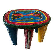 #3522 African Old Nupe Stool Nigeria 11.5