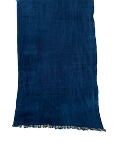 "Plain Indigo Cloth - Mossi Tribe Burkina Faso 69"" by 40"""