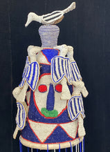 "Load image into Gallery viewer, #3746 Stunning African Yoruba Beaded King Crown 18"" H Nigeria"