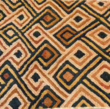 "Load image into Gallery viewer, #2040 Superb African Kuba Kasai Velvet Raffia Textile Zaire 26 ""by 23"""