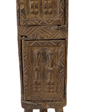 "Load image into Gallery viewer, #3487 Dogon Wooden Medicine / Tobacco Box Mali 18.5"" H"