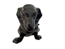 Load image into Gallery viewer, Vtg Lg Black Dachshund Dog Sculpture Royal Haeger 13.25""